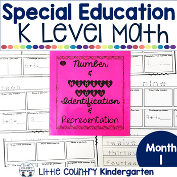 Special Education Morning Work: Month 1 of Kindergarten Level Math