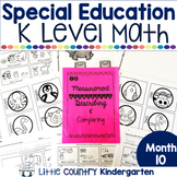 Special Education Morning Work: Month 10 of Kindergarten Level Math
