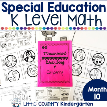 Special Education Morning Work Month 10 Of Kindergarten Level Math