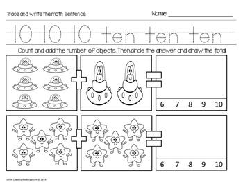 Autism or Kindergarten: Morning Work or Homework Month 11 of CCSS Math