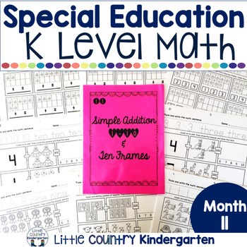 Special Education Morning Work: Month 11 of Kindergarten Level Math
