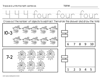 Special Education Morning Work: Month 12 of Kindergarten Level Math
