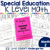 Special Education Morning Work: Month 2 of Kindergarten Level Math