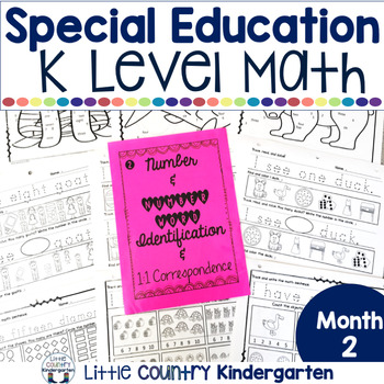 Special Education Morning Work Month 2 Of Kindergarten Level Math