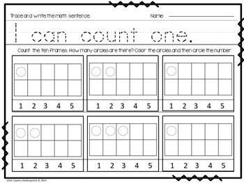 Autism or Kindergarten: Morning Work or Homework Month 3 of CCSS Math