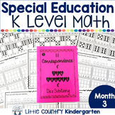 Special Education Morning Work: Month 3 of Kindergarten Level Math