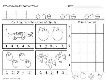 Autism or Kindergarten: Morning Work or Homework Month 4 of CCSS Math