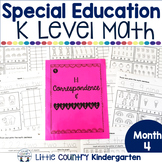 Special Education Morning Work: Month 4 of Kindergarten Level Math