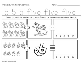 Autism or Kindergarten: Morning Work or Homework Month 5 of CCSS Math