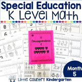 Special Education Morning Work: Month 5 of Kindergarten Level Math