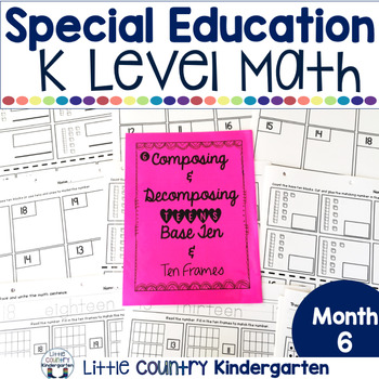 Autism or Kindergarten: Morning Work or Homework Month 6 of CCSS Math