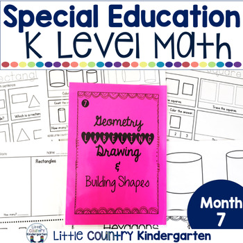 Autism or Kindergarten: Morning Work or Homework Month 7 of CCSS Math