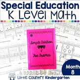Special Education Morning Work: Month 8 of Kindergarten Level Math