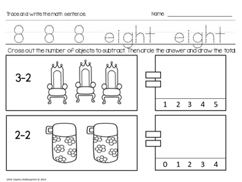 Autism or Kindergarten: Morning Work or Homework Month 9 of CCSS Math