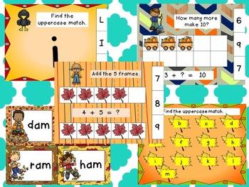 Autism or Kindergarten Seasonal Bundle: Year of Literacy and Math Centers