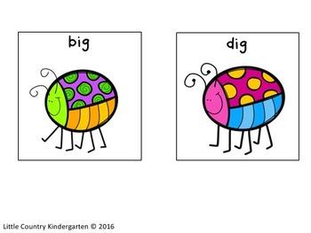 Autism or Kindergarten: Word Endings Discrimination Sort Bundle