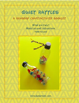 Autism or Quiet Time Music Craft – Straw Kaleidoscope Rattles