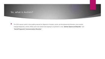 Autism professional development powerpoint presentation