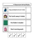 Autism schedule: Morning Work