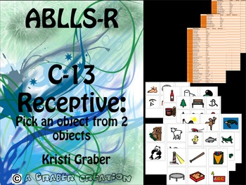 Autism special education ABLLS-R Receptive labeling