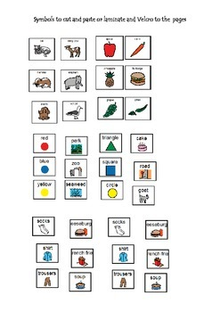 Autism/Literacy Little Book of Catagories