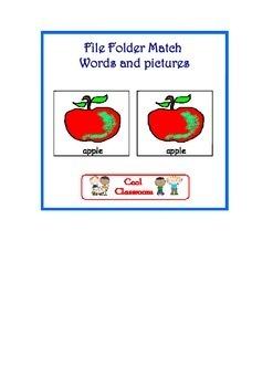 Autism/kindergarten - 5 Colour and number match File folder activities
