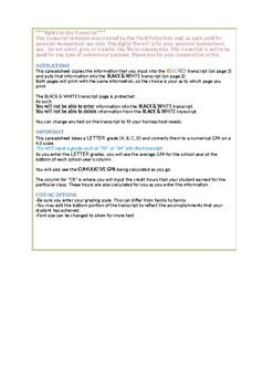 Auto-Calculated Transcript GPA