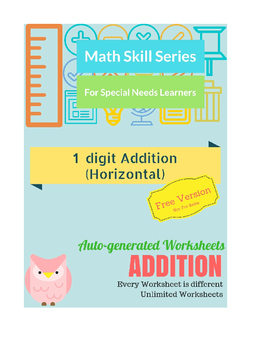 Auto-Generated Addition Worksheets (Horizontal)