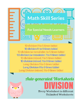 Auto-Generated Division Worksheets (Vertical)