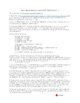 Auto Generated Homework Email (Script 1) Freebie