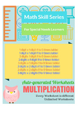 Auto-Generated Multiplication Worksheets (Vertical)
