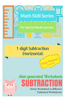 Auto-Generated Subtraction Worksheets (Horizontal)