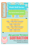 Auto-Generated Subtraction Worksheets (Vertical)