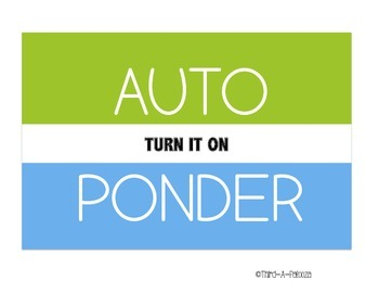 Auto Ponder Questioning Strategy Sign