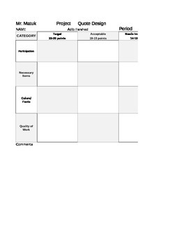 Auto-Updating Rubric - Time Saver!