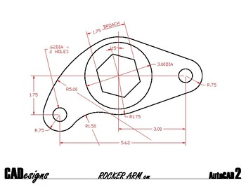 AutoCAD Rocker Arm Tutorial