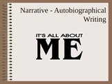 Autobiographical Narrative Writing PowerPoint