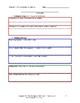 Autobiographical Narrative Writing Template