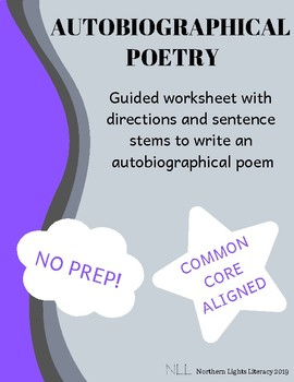 Autobiographical Poetry - No Prep, Common Core Aligned