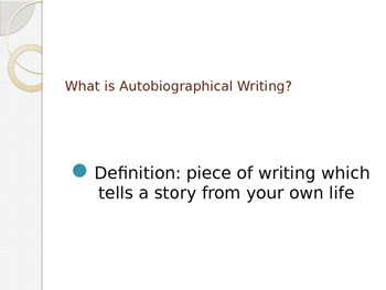 Autobiographical Writing PPT