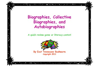 Autobiographies, Biographies and Collective Biographies -