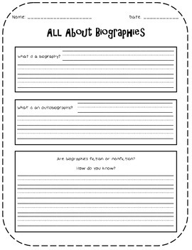 Autobiography {A Writing Activity}