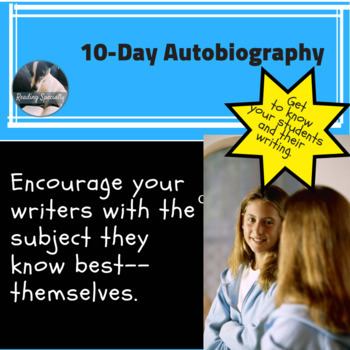 Autobiography Back to School 10 Day Writing (also in back to school bundle)