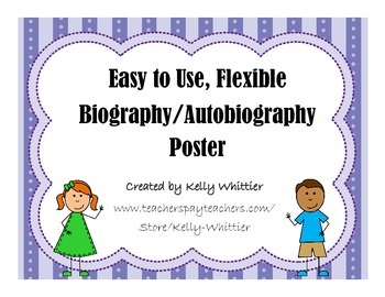 Autobiography / Biography Poster - Simple and Flexible!