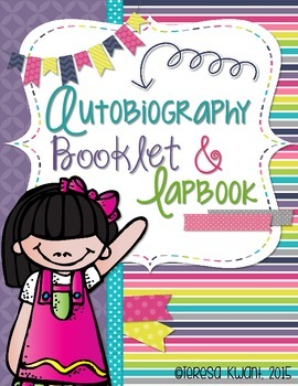 Autobiography Booklet and Lapbook: 3rd, 4th, 5th, 6th Grades