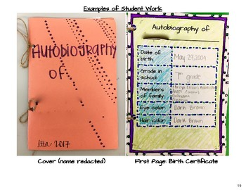 Autobiography Booklets