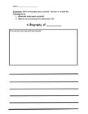 Autobiography Graphic Organizers
