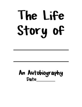autobiography cover page template