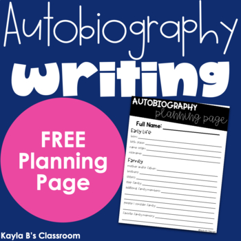 Autobiography Planning Page