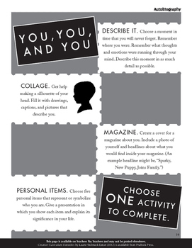 Autobiography Projects for the Language Arts Classroom